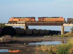 BNSF 6260 westbound BNSF empty coal train