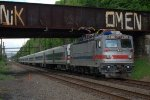 SEPTA AEM-7 2307 on the back of train 6378