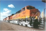 BNSF 5867 fourth ES44AC in consist of six