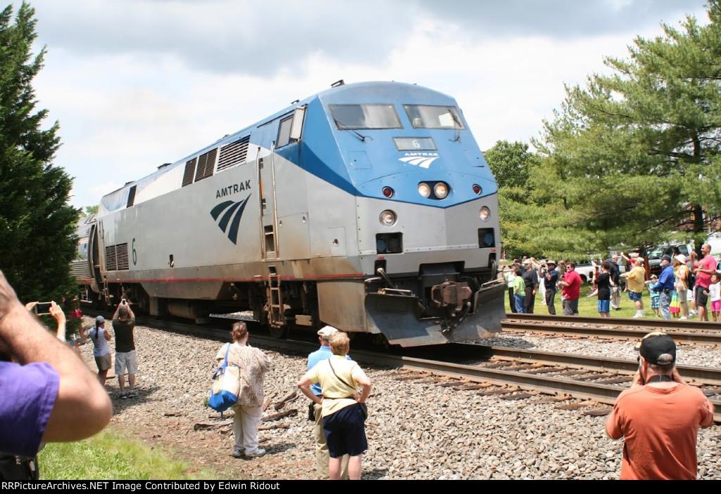 AMTK 6 en route Lynchburg VA to Boston MA
