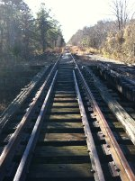 CNJ Tracks looking South over bridge