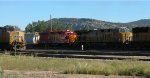 UP 7518 with USAX 4672 hauling past UP 7888