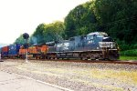 NS 9851 leading BNSF 5856 intermodal