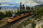 Work train at Yuba Gap