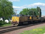 UP 7244 with ex CNW carries empties west