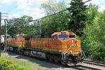 BNSF 4448 leads train west