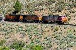 ATSF 695, BNSF 4629 & 7300 eastbound
