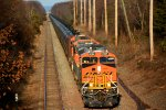BNSF 8124 8173 5708 CSX Train K044 Crude Oil Loads