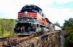NS 348 on Pumpkinvine trestle