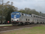 Feb 26, 2005 - Amtrak 129 leads Amtrak 130 on train P053, the Auto Train