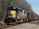 Feb 26, 2006 - CSX 8045 gets train S491 underway