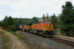 BNSF 5645 leads an EB empty