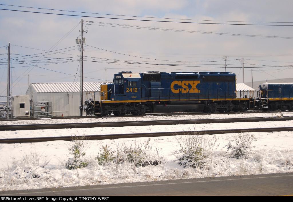 CSXT SD40-2#2412