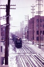 An eastbound freight at 9th Street