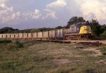 CSX 4683 solo with wet rock empty hoppers