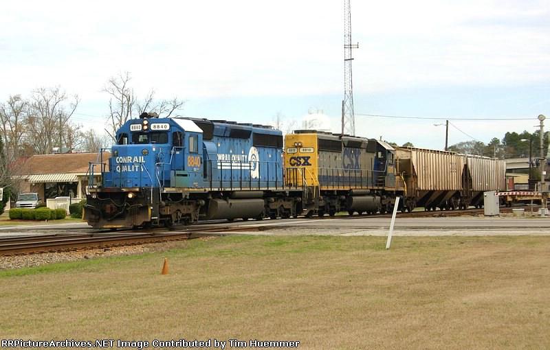 Southbound CSX Freight passes through