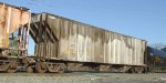 AEX 951 X-WP aluminum 3-bay covered hopper in a manifest freight north across 10th Street from NS Brosnan Yard Macon GA 10-21-11