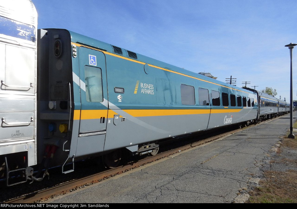 VIA 3453 on train 63 at Dorval