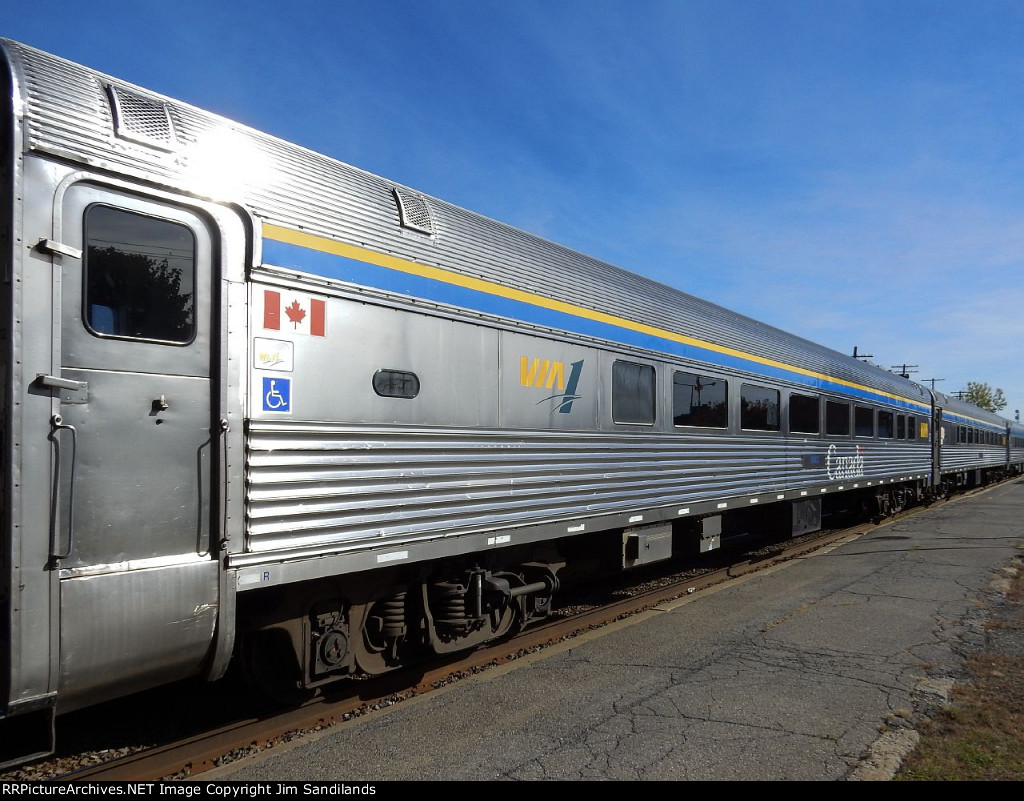 VIA 4002 on train 63 at Dorval