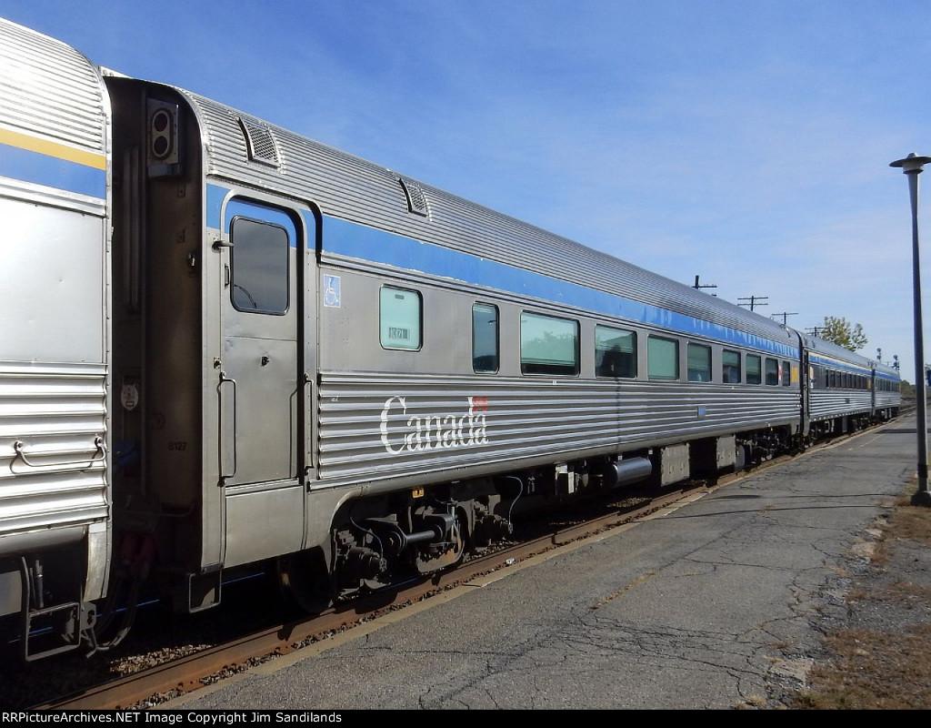 VIA 8123 on trn 63 at Dorval