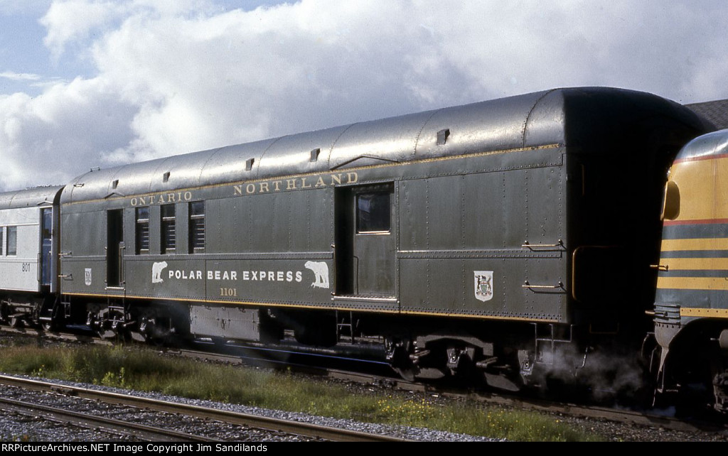 ONR former Baggage mail 1101 on the Polar Bear Express