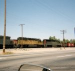 Southern Pacfic and Union Pacific in Bakersfield