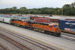 BNSF 7302 Leads a Frac Sand into the yard at Fort Madison Iowa.