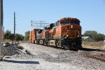 BNSF 7080 Rips on a EB stack train out of Iowa into Illnois.