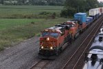 BNSF 6826 Leads a WB stack train out of Baring MO.