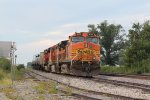BNSF 4167 Sits tied down on a empty Oil train..