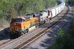 BNSF 6838 Screams west with a Frac Sand train.