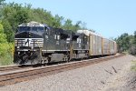 NS 7534 Leads a WB V-BLUBEL rack train down the ex Santa Fe.