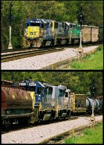 Q640 (Cumberland-Buffalo) meets D702 (Warwick-New Castle Local)