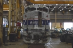 Amtrak 513 in the shop