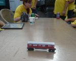 R36 Preservation displayed a wood toy model of World's Fair single unit car 9307