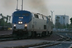 Amtraks SW Cheif slows for a staition stop