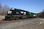 Dover to Washington, NJ freight with Maine Eastern #764 arrived in NS Washington Yard