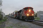After waiting for northbound traffic, CN 8919 starts south again with Q116