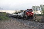 CN 2200 heads away south as the DPU on U738