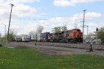 CN 2328 leads the way as Q119 heads north through Oshkosh