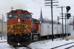 BNSF 4619 251 South Pulls Triple Crown Roadrailers on NS New Castle District