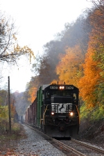 NS 144 North grinds through the Wabash Valley