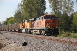 BNSF 5892 Heads a empty coal Nb up the K Line.