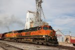 BNSF 1093 Stomps out of Old Monroe Mo.