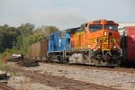 BNSF 5670 Leads a SB loaded coal drag with a Cefx 90 mac 2nd out.