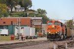 BNSF 5853 Drags a coal load through Louisiana Mo.