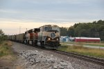 BNSF 9454 Drags a empty coal out of the siding..