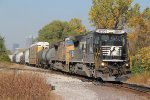 NS 8301 Leads a freight toward the Alton & Southern yard.