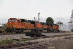 BNSF 255 Sits in the siding as lite power.