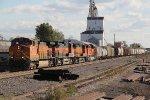 BNSF 5115 Heads a MEMGAL into the siding..